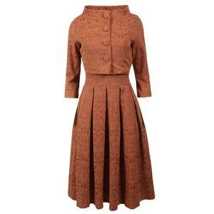 Lindy Bop Marianne Jackie O Dress/Jacket Twin Set